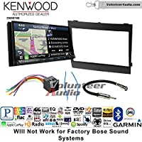 Volunteer Audio Kenwood DNX874S Double Din Radio Install Kit with GPS Navigation Apple CarPlay Android Auto Fits 2004-2006 Pontiac GTO