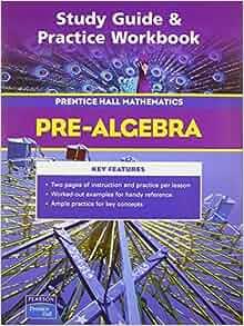 prentice hall pre algebra workbook pdf