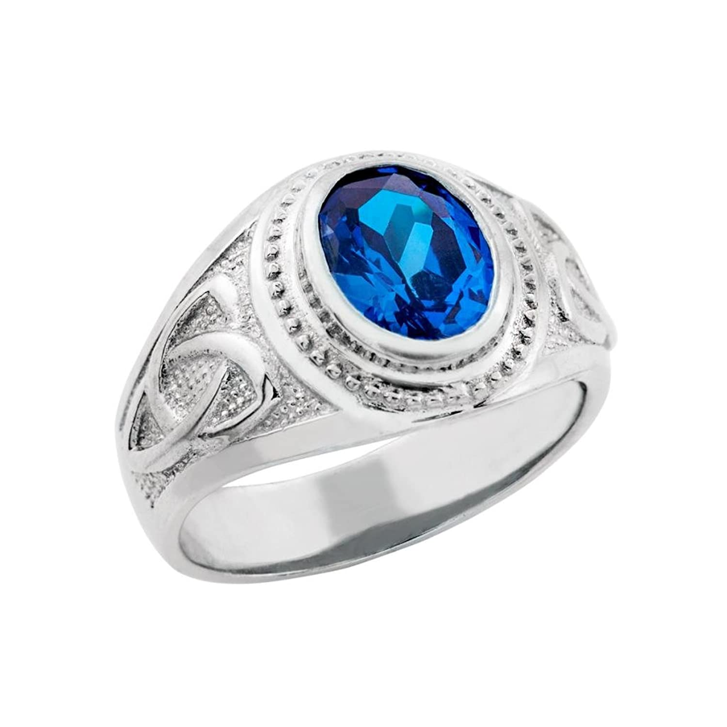 blue sapphire beautiful birthstone halo engagement with pin ring september