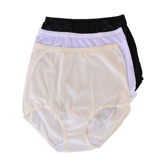 13737e373ce1 Shadowline Pants & Daywear Nylon Classic Brief Panty 17042 5 White, Black,  Ivory: Amazon.ca: Clothing & Accessories