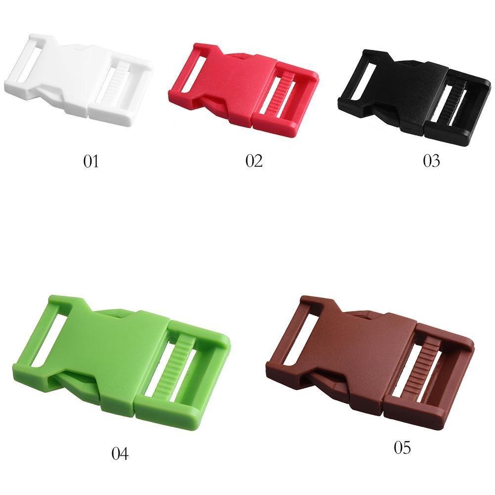 Black Pomineer 1 PCS Side Release Plastic Buckle Belt Backpack Luggage Fastener