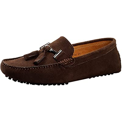 Abby 2080 Mens Stylish Casual Loafers Comfy Slip-on Sunny Moccasins Low Top Leather Shoes