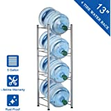 CASAVIDA 4-Tier Water Cooler Jug Rack, Water Bottle Storage Rack Detachable Heavy Duty Water Bottle Cabby Rack