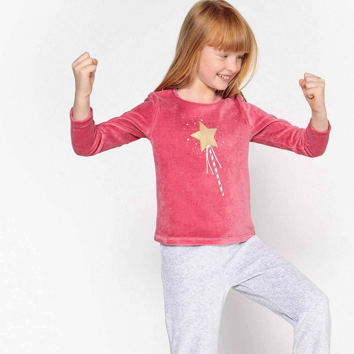 3-12 Years La Redoute Collections Big Girls Velour Pyjamas
