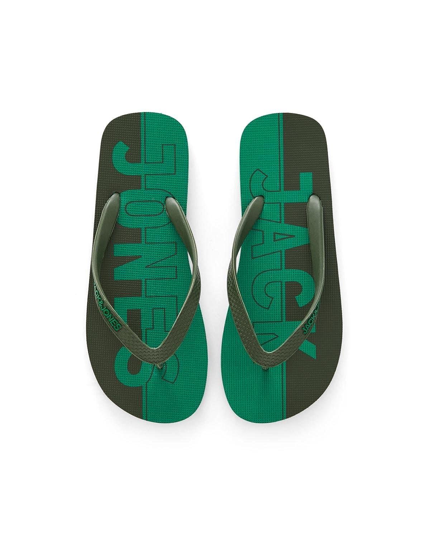 Jack & Jones Jfwlogo Print Flip Flop Pack, Sandales Bout Ouvert Homme 12117750