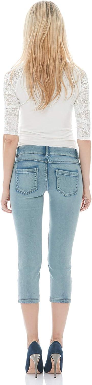 Amazon Com Suko Jeans Capris De Mezclilla Para Mujer Pull On Stretch Clothing