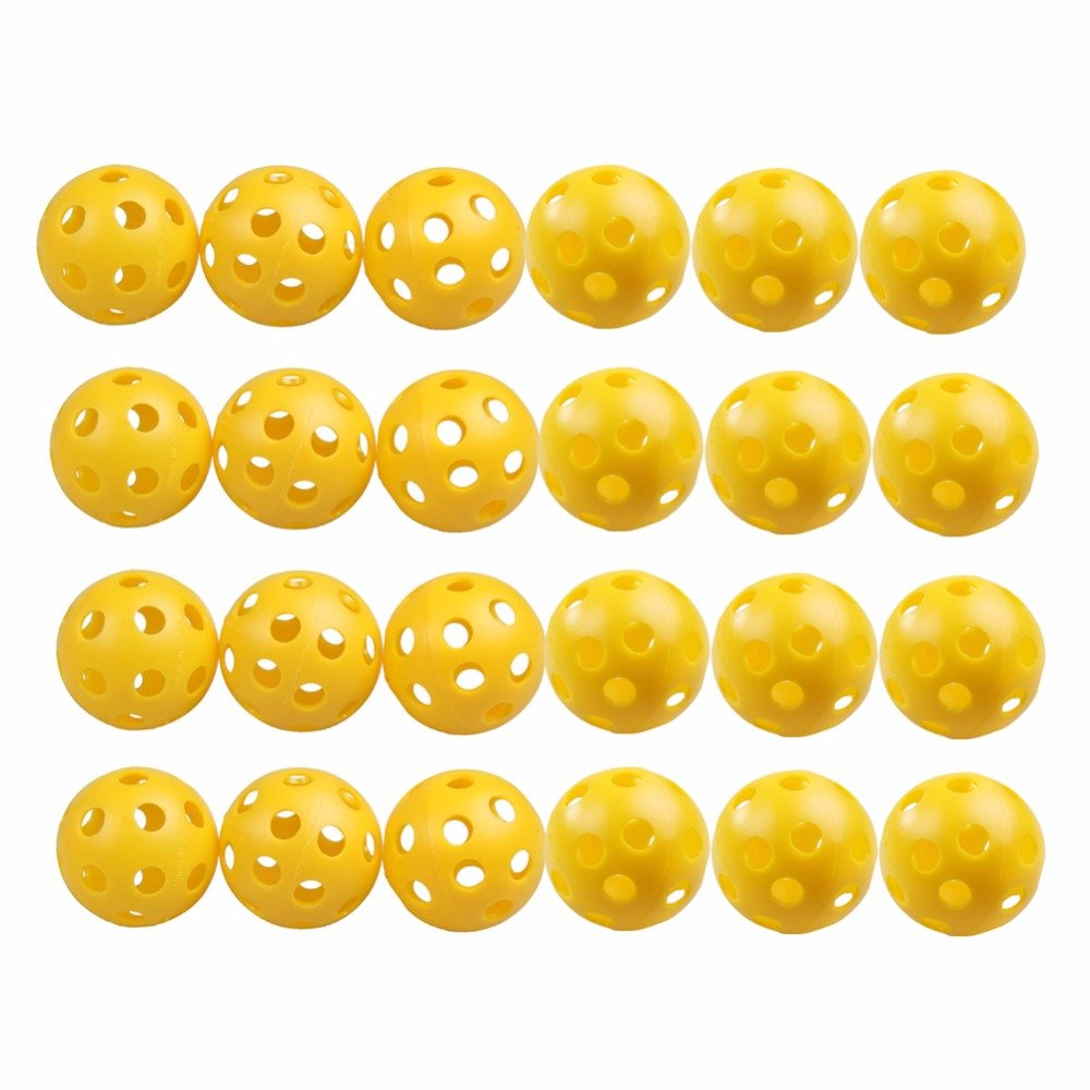 50 Pcs Golf Practice Training Sports Balls Airflow Hollow for Pre-game Warm Ups Lightweight Durable