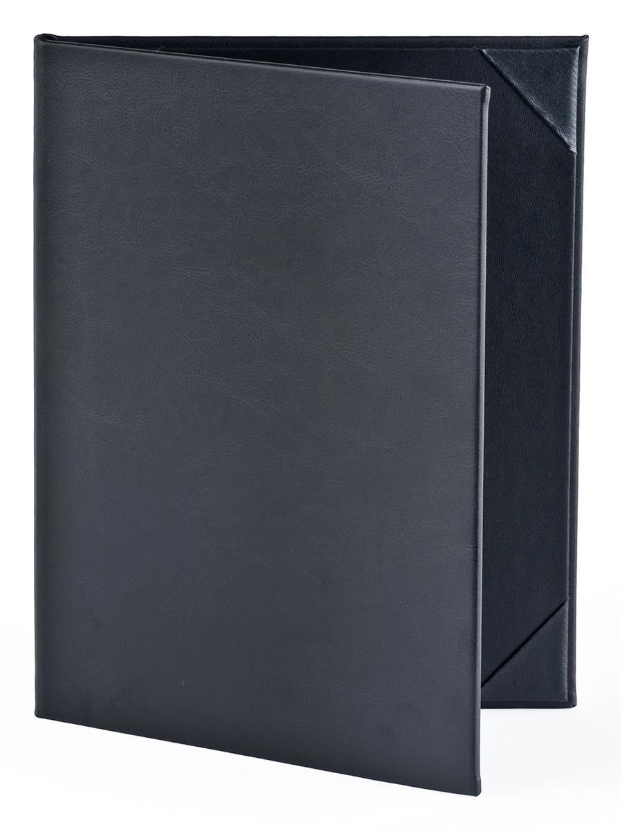 25のセット、メニューカバーfor (2 ) 8.5 X 11 Sheets、ハードカバーDouble FoldメニューPresenters forレストランwithフォトalbum-styleコーナー、ブラック、合成レザー – 9.125