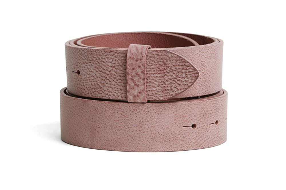 VaModa Belt, Cinturón en piel, modelo Grenada, color rosé, sin hebilla
