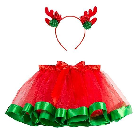 dc18966df213 Girls Kids Tutu Christmas Party Ballet Rainbow Baby Costume Skirt+ ...