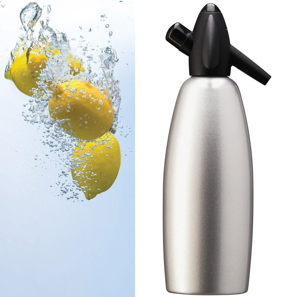 Sifone Kayser per Seltz, Bottiglia da 1 litro Acqua Gasata Barman Spritz Cocktail Louis Tellier 2100