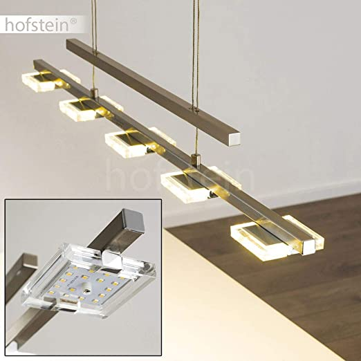 Suspension Avesta En Metal De Couleur Nickel Mat Luminaire Led