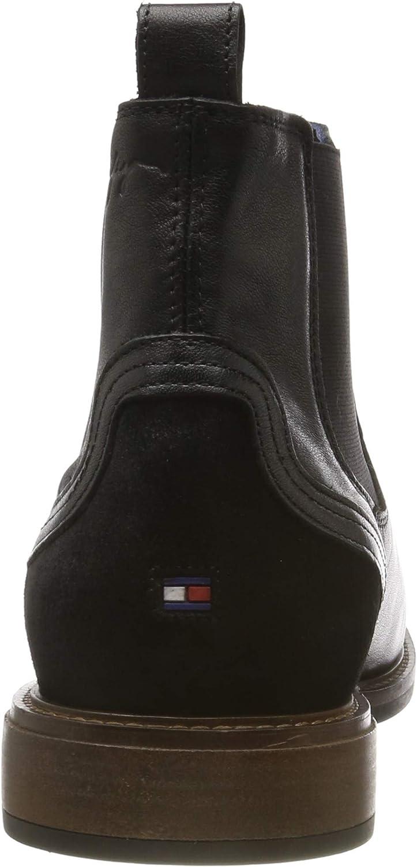Tommy Hilfiger Herren Elevated Leather Mix Chelsea Klassische Stiefel