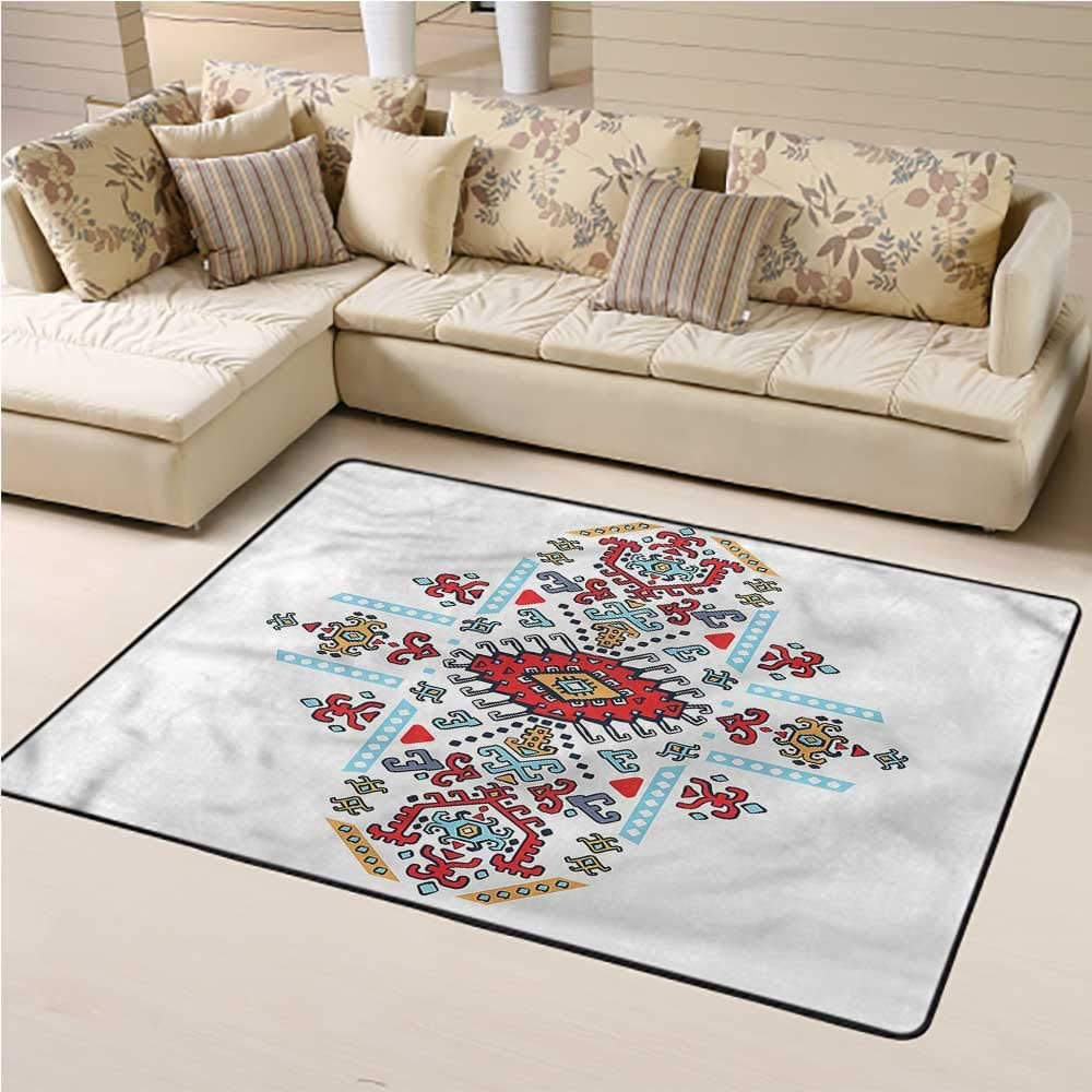 Printed Rug Geometric for Kids Yoga Living Room Home Decor Rugs Mexican African Pattern 2' x 3' Rectangle