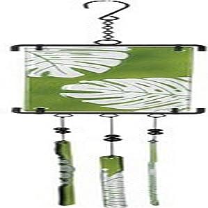 Premier Kites 81169 Silhouette Glass Chime/Wind Bells, Leaf
