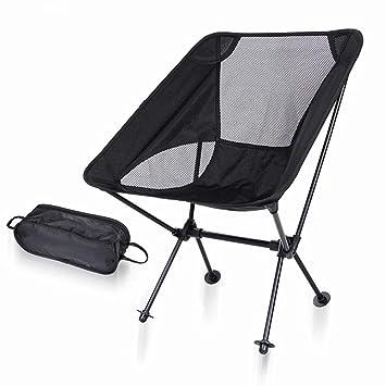 Yamyannie Silla de Camping portátil Outdoor Camping Ultra ...