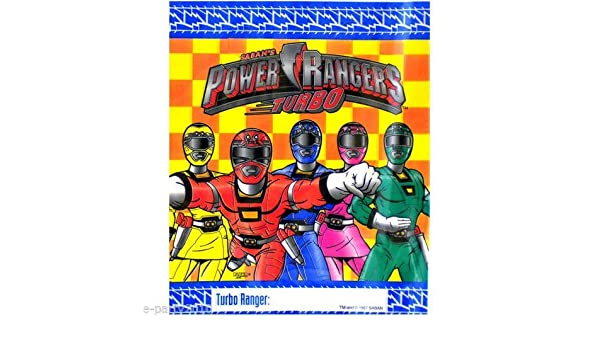 Amazon.com: Saban POWER RANGERS TURBO Favor Treat Loot Party Bags (8 Count): Toys & Games
