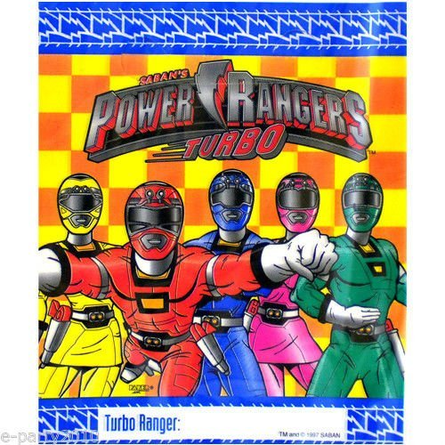 Saban POWER RANGERS TURBO Favor Treat Loot Party Bags (8 Count) -