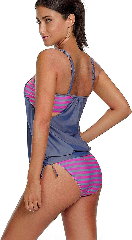 Century Star Womens Two Piece Tankini Swimsuit Floral Tank Top Bikinis Padded Swimwear with Boyshorts