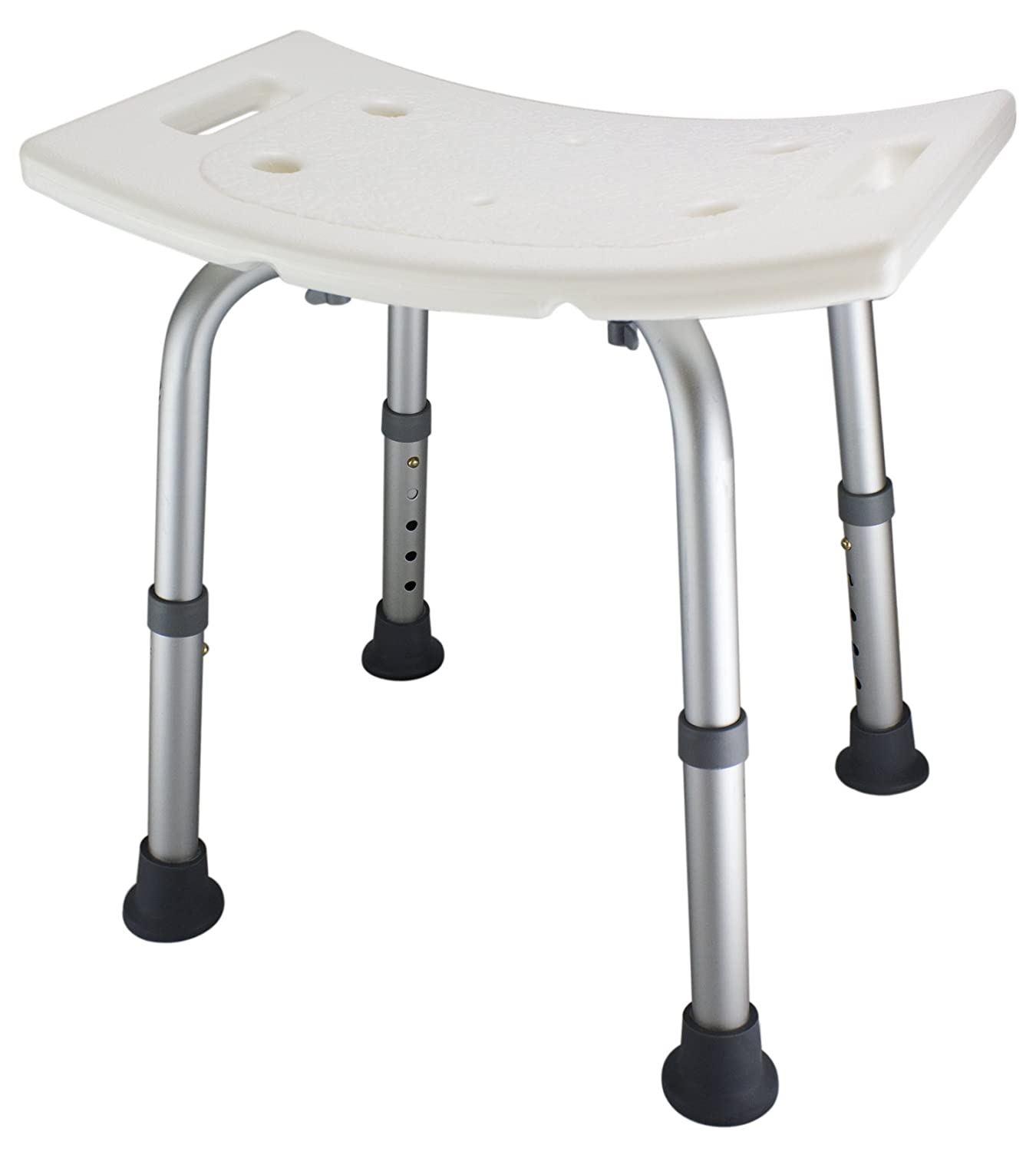Amazon.com: Ez2care Adjustable Lightweight Shower Bench, White ...