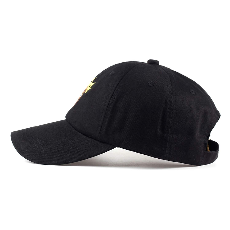 Newest Design Black Guy Wearing Crown Baseball Cap Unisex Cotton Black Curved Cap Women Men Casual hat