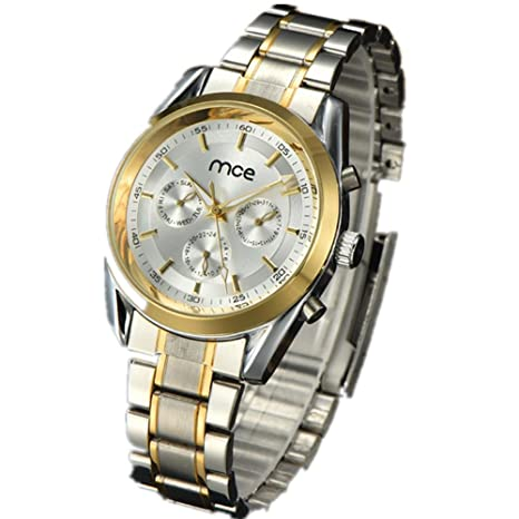 GAOCF Reloj Casual Digital Mecánica Solar Banda De Acero Watch De Men , White