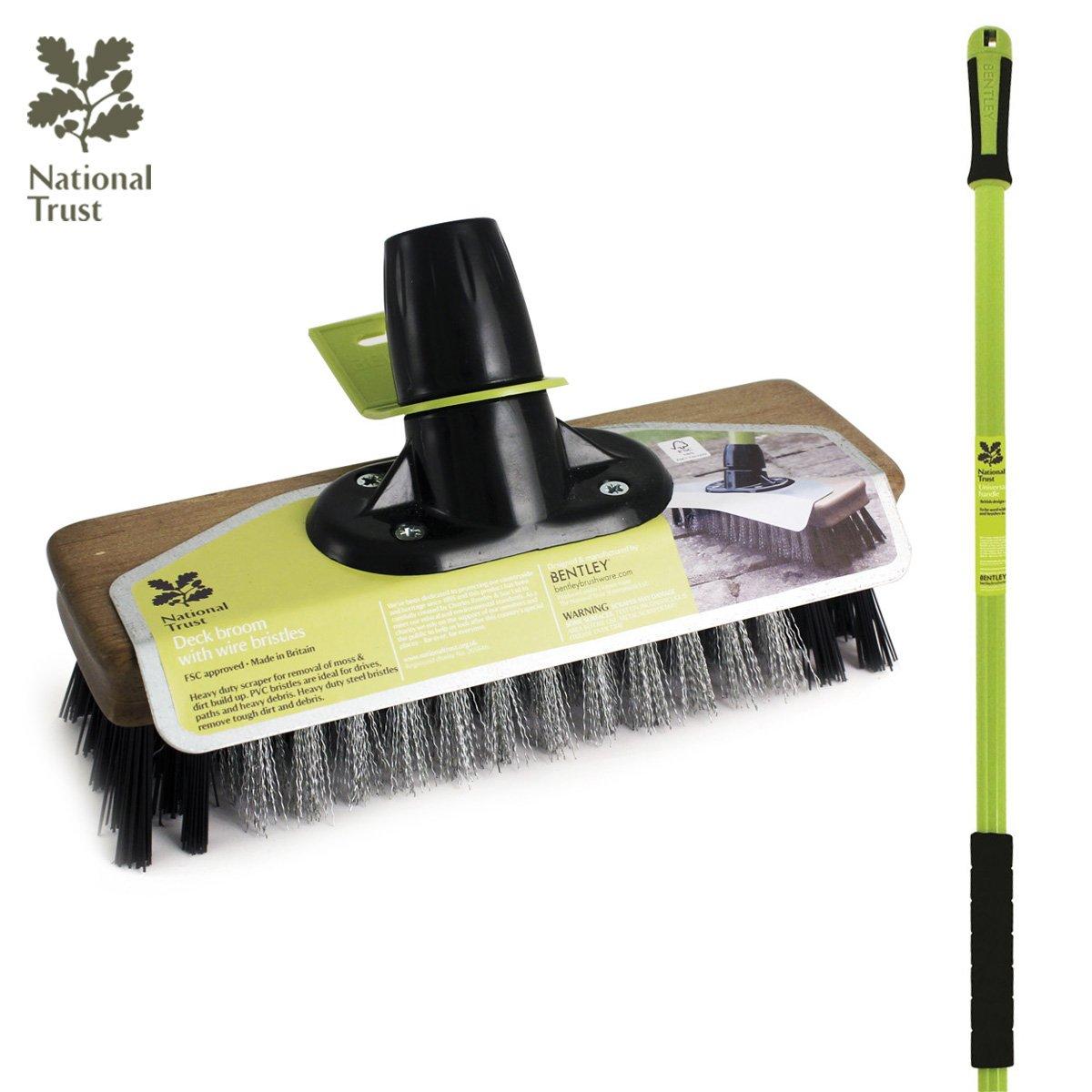 Charles Bentley National Trust Garden 9' Wire Broom With Pvc Patio Brush With Handle Charles Bentley Garden