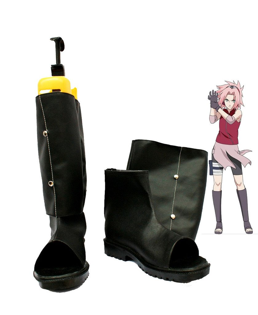 Naruto Anime Haruno Sakura Cosplay Shoes Boots Custom Made 2 Custom Made