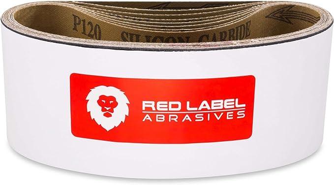 2-1//2X16, 4 Pack Sungold Abrasives 03567 Aluminum Oxide Heavy Duty Cloth 100 Grit Sanding Belts