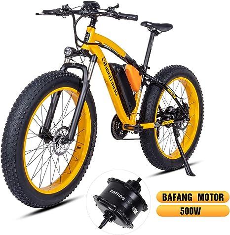 Shengmilo Bafang Motor 26 Pulgadas Eléctrica Mountain E-Bike ...