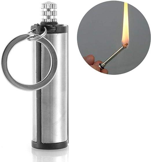Fire Starter Flint MATCH LIGHTER Survival Camping Emergency Keychain Tool Gear