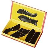 EQLEF® Buffalo Horn Gua Sha-Massage-Werkzeug Guasha Vorstand (fünf-teiliges Set)
