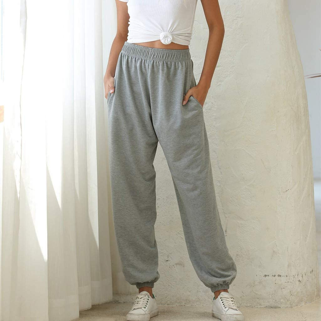Hessimy Sweatpants for Women Joggers,Womens High Waisted Active Jogger Pants Sweatpants Lounge Bottoms