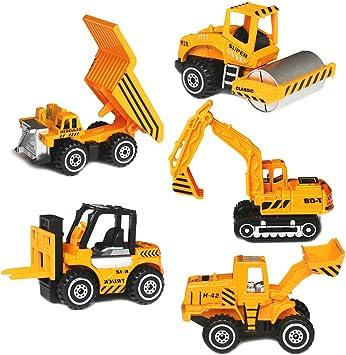 YIMORE Camiones Juguetes, Mini Coches Vehículos de Construcción ...