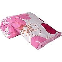 Handcraftd AC Quilt/Blanket - Floral Soft Designer Single Bed - Multicolor (Black)