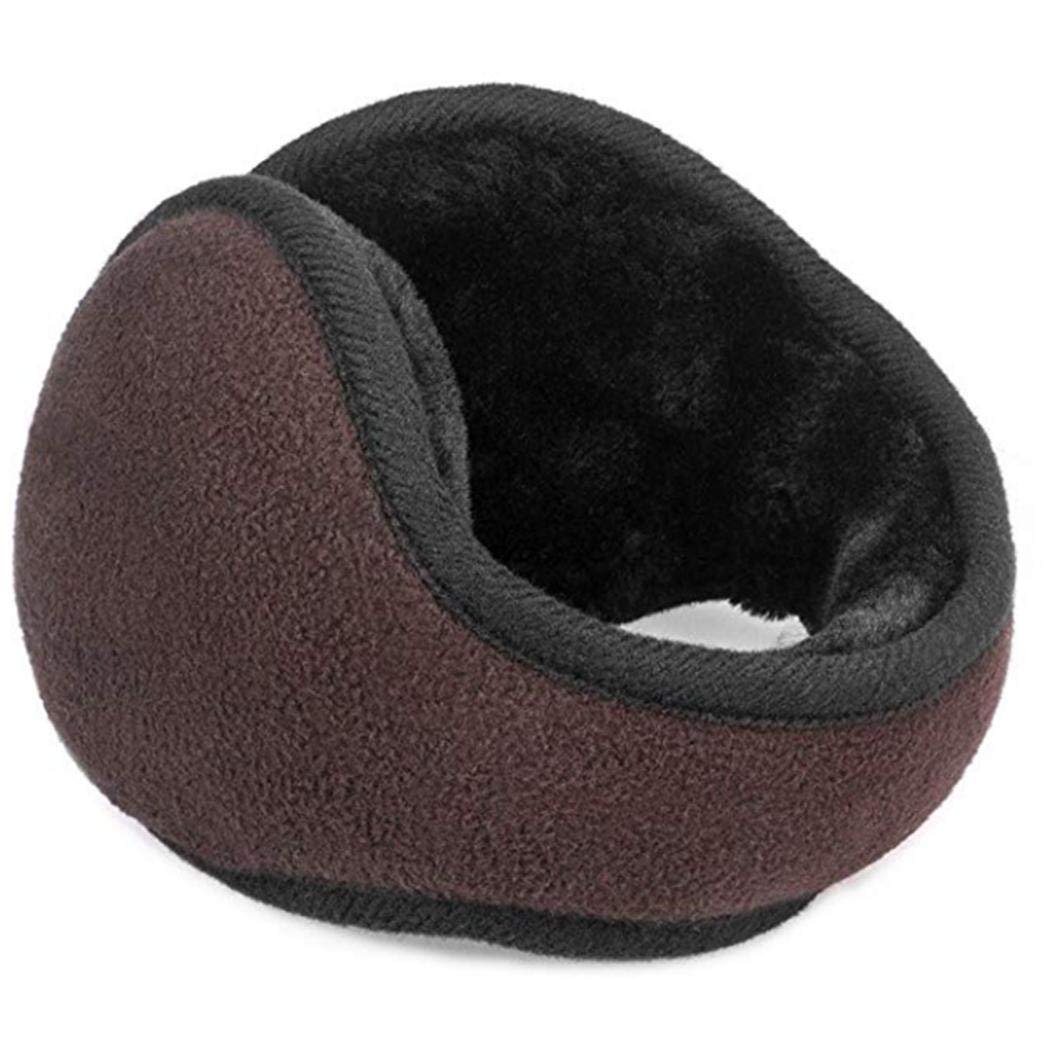 eubell Unisex Foldable Ear Warmers Polar Fleece/kints Winter EarMuffs Coffee by eubell (Image #2)