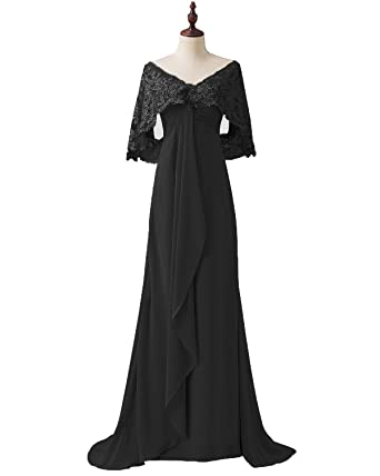 Pretygirl Women s Lace Chiffon Long Prom Evening Dress Mother of The Bride  Dresses Wedding Gown c30b16fd9