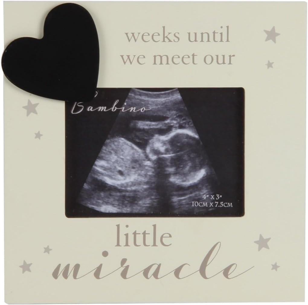 Bambino Little Miracle - Marco de fotos con cuenta atrás para escanear sonograma