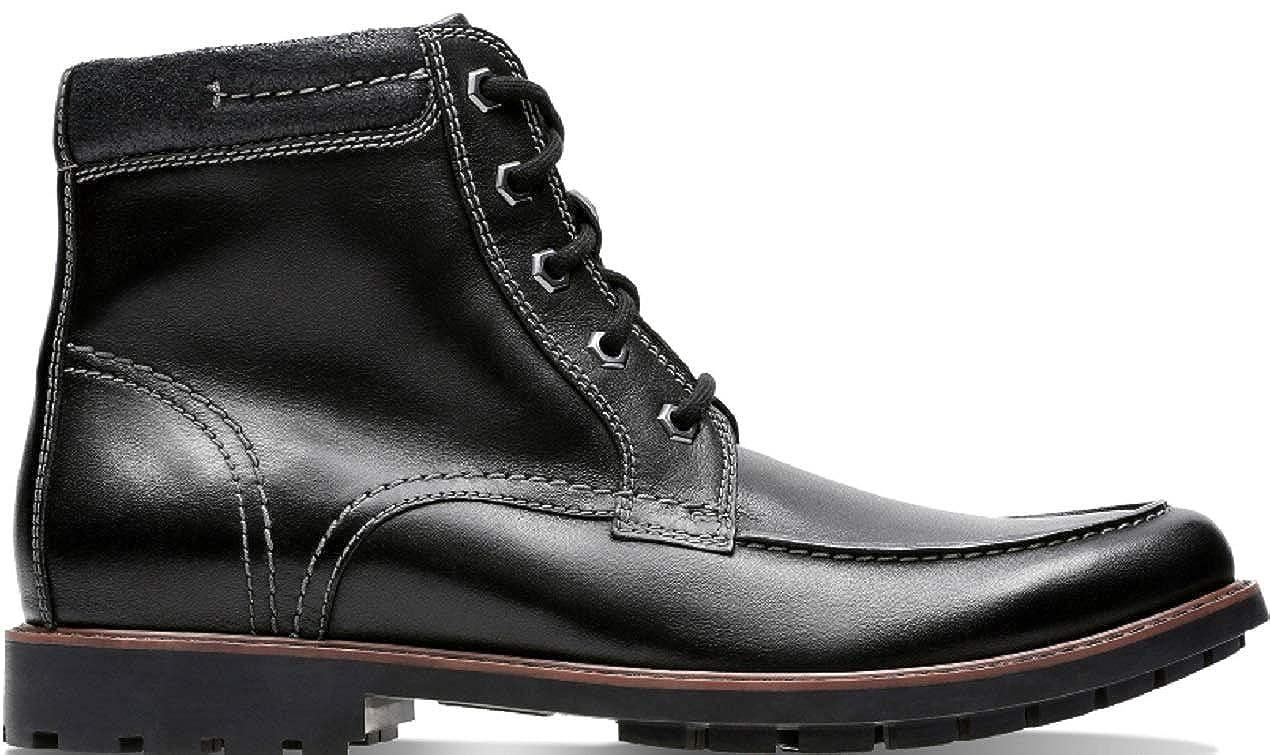 Clarks CURINGTON HIGH schwarz Leather - 26136685