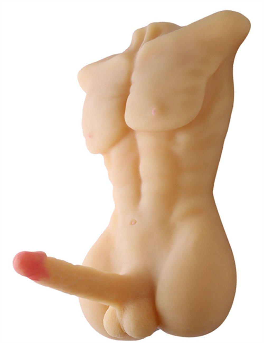 Love Doll Torso Male Body ,SINLOLI 3D Realistic Sex Toy Doll with Big Realistic Dildo for Women (Flesh) by SINLOLI