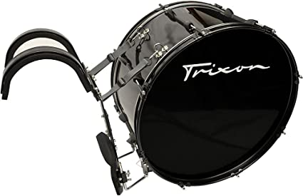 "Trixon Field Series Pro Marching Bass Drum 28 by 12/"" Black"