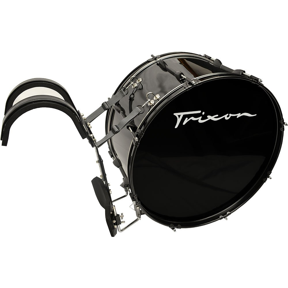 Trixon Field Series II Marching Bass Drum 28'' x 12'' - Black Polish