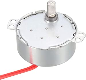 uxcell Metal Gear Synchronous Synchron Motor AC 24V 1.3-1.5RPM 50-60Hz CCW/CW 4W for Microwave Oven