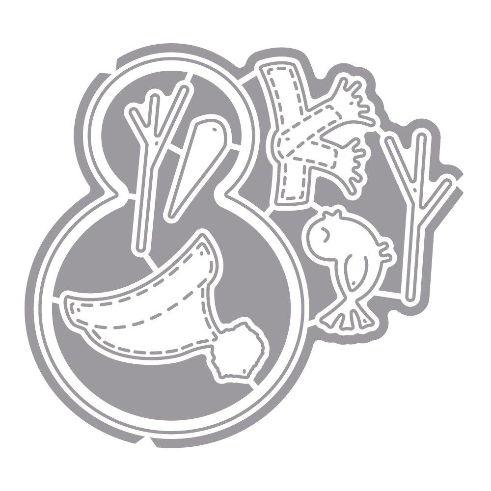 7/pezzi Rayher 59713000/fustelle Set pupazzo di neve SB BTL