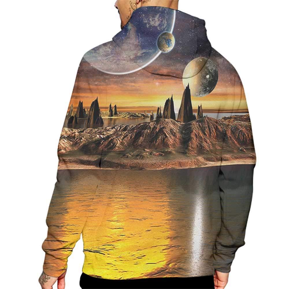 Hoodies Sweatshirt Men 3d Print Fantasy Alien Planet With