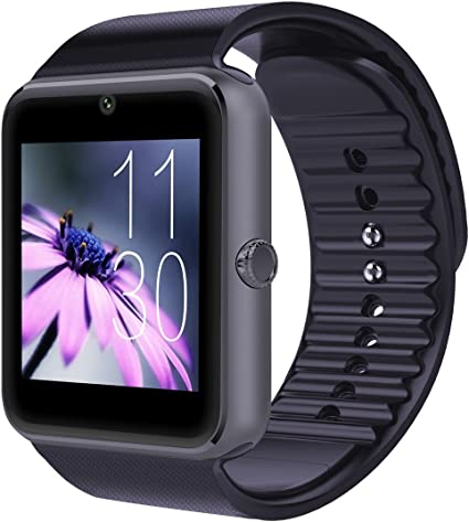 Qiufeng GT08 Smart Watch SmartWatch with Camera for Iphone and Android Smartphones (Black)