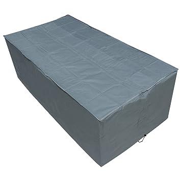 Oxbridge - Bâche pour table de jardin - rectangulaire/étanche - garantie 5  ans - gris - grande taille