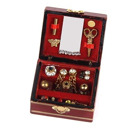 Joyero Rectangular Cajas de Regalo Adornado de la Vendimia Final Antiguo Grabado Organizador Caja