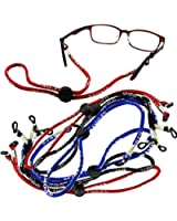 6 X Sports Sunglasses Neck Straps Lanyard Holder 2 pcs of Each Color (Black Blue Red)