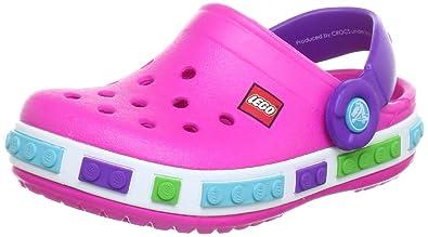 931d0e9923681 crocs Unisex-Kinder Crocband Kids Lego Clogs Pink Magenta Neon Purple 6N4